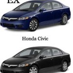 Difference Between Honda Civic LX and EX