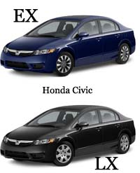 Honda Civic Lx Vs Ex