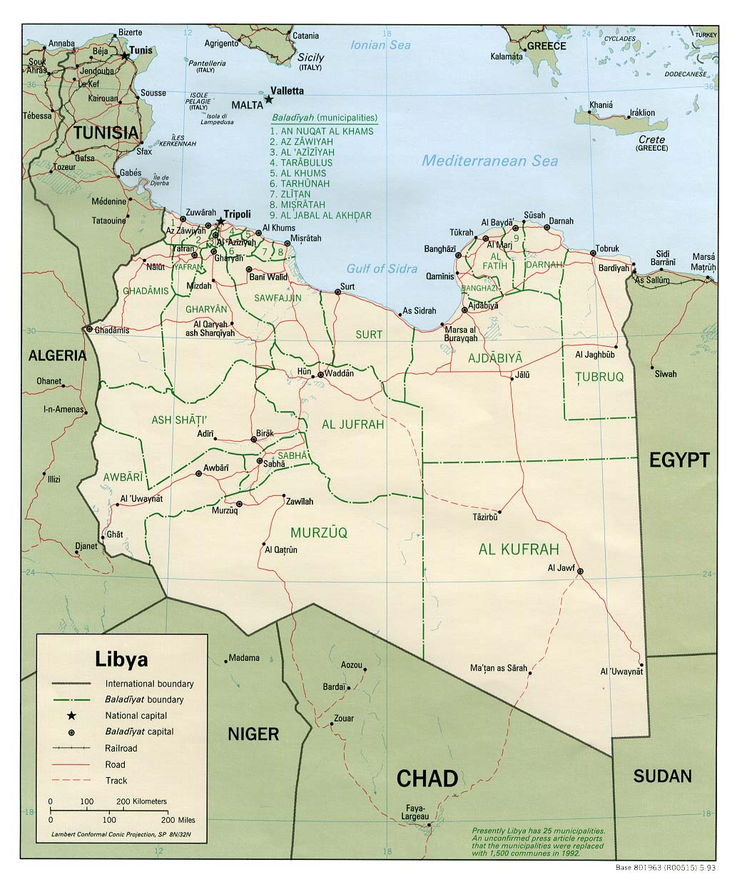 difference between libya and bahrain