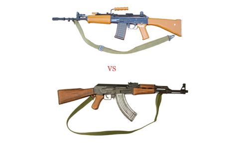 AK-47 and an INSAS