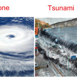Difference between Cyclone and Tsunami