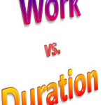 Difference between Duration and Work