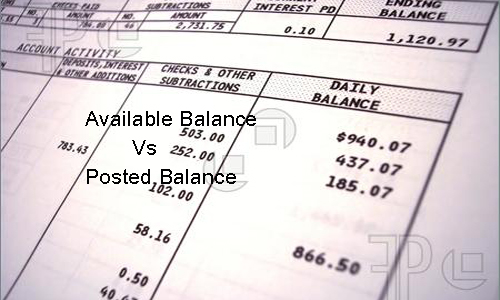 Available Balance and Posted Balance