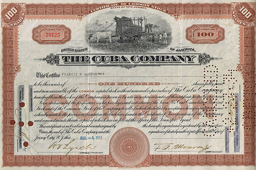 512px-Common_Stock_The_Cuba_Company_1933