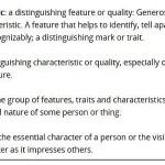 Character and Trait-Do they Differ ?