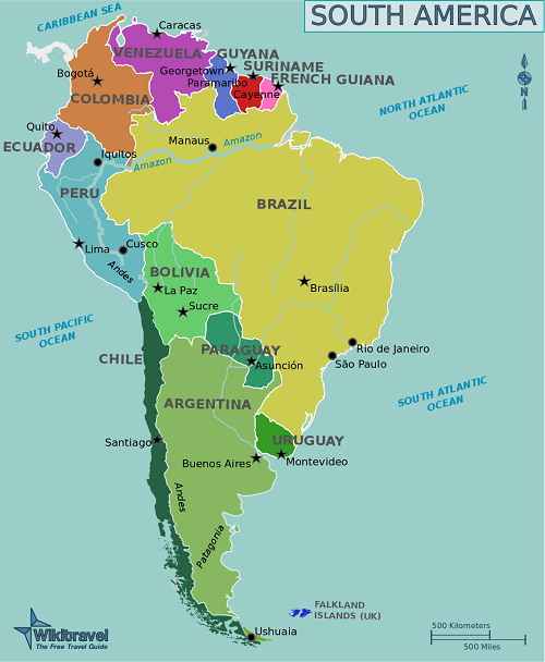 Difference between Latin America and South America