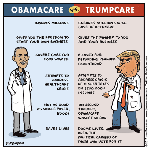 Difference between Trumpcare and Obamacare-1