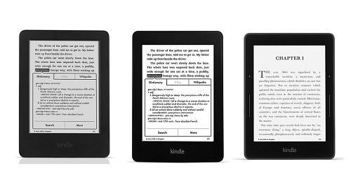 Difference between Kindle and Kindle Paperwhite