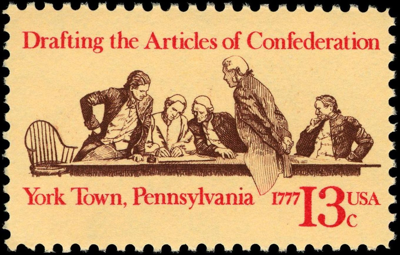 Who was involved in writing the articles of confederation