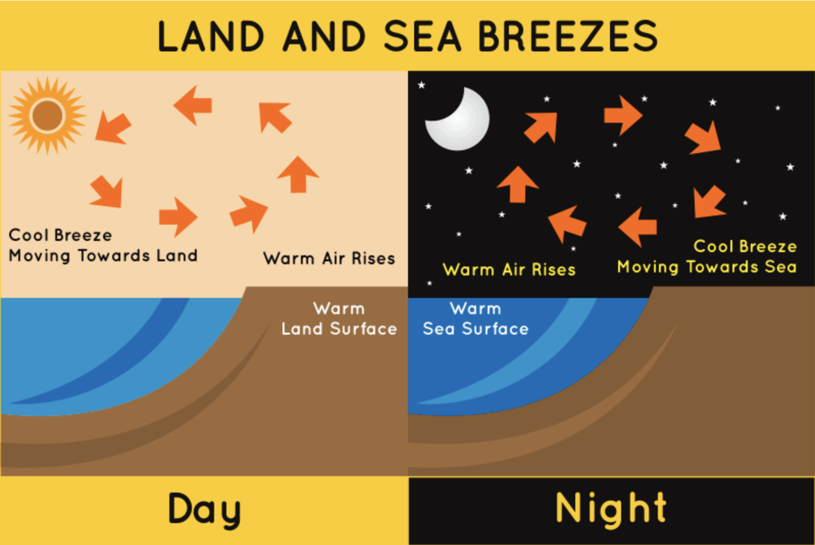 Difference Between Land Breeze and Sea Breeze | Difference Between