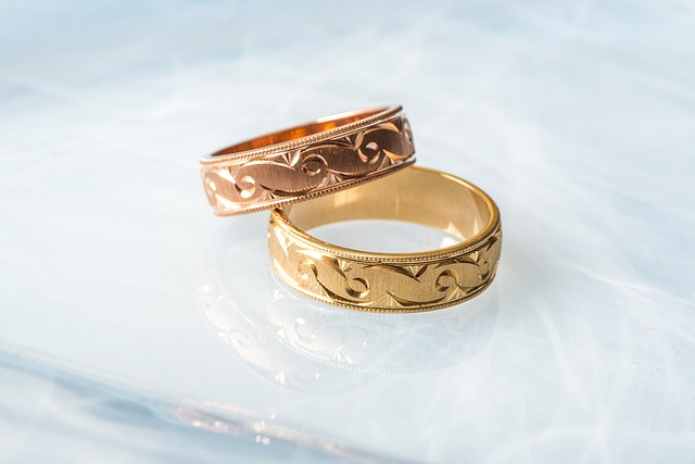Gold Rose Gold Commitment Wedding Ring Rings
