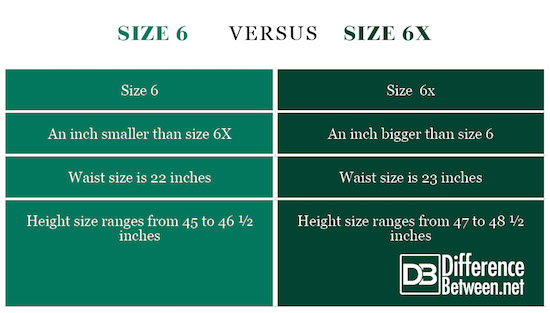 Size 6 VERSUS Size 6x