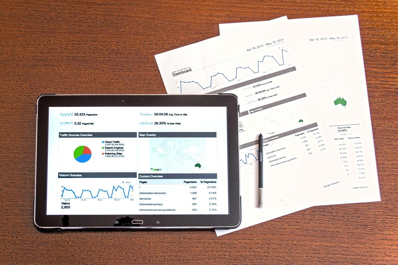 Computer Analytics Analysis Business Chart Charts