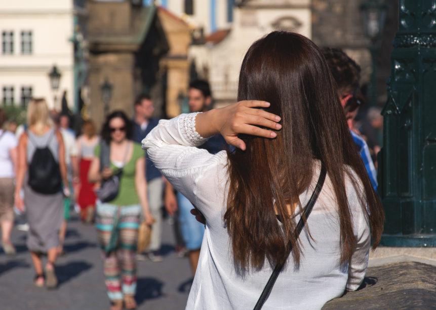 Brown hair woman